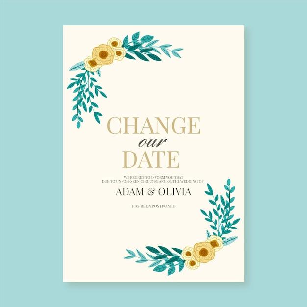 Cambia la cornice della data dei fiori Vettore gratuito