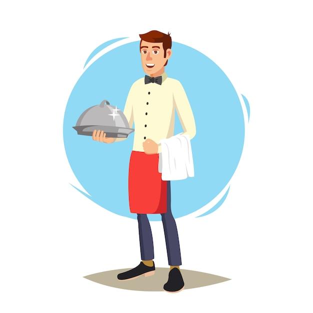 Cameriere in caffè Vettore Premium