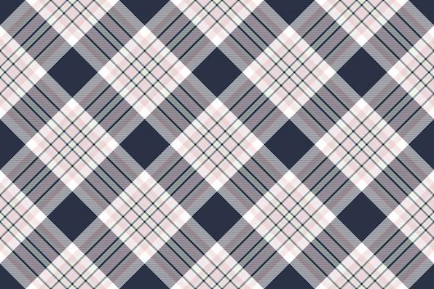 Camicia a quadri diagonale trama del tessuto senza soluzione di continuità Vettore Premium