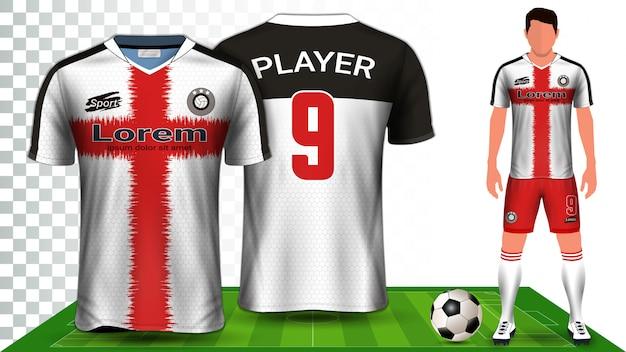 Camicia sportiva o uniforme da football. Vettore Premium
