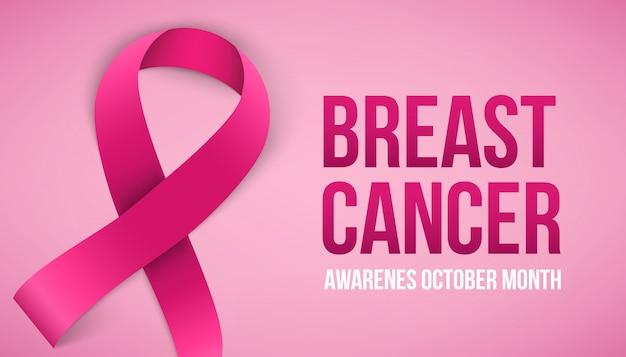 Campagna di sensibilizzazione sul cancro al seno. Vettore Premium