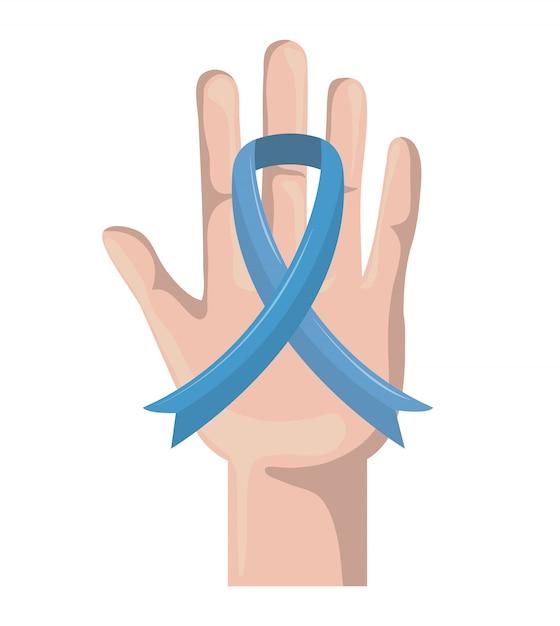 Campagna per il cancro della prostata Vettore Premium
