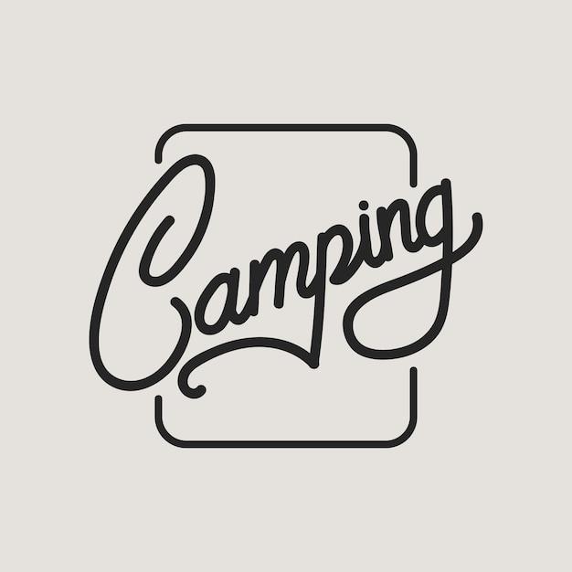 Campeggio Vettore gratuito