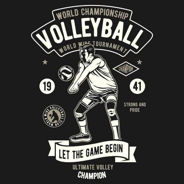 Campionato mondiale di pallavolo Vettore Premium
