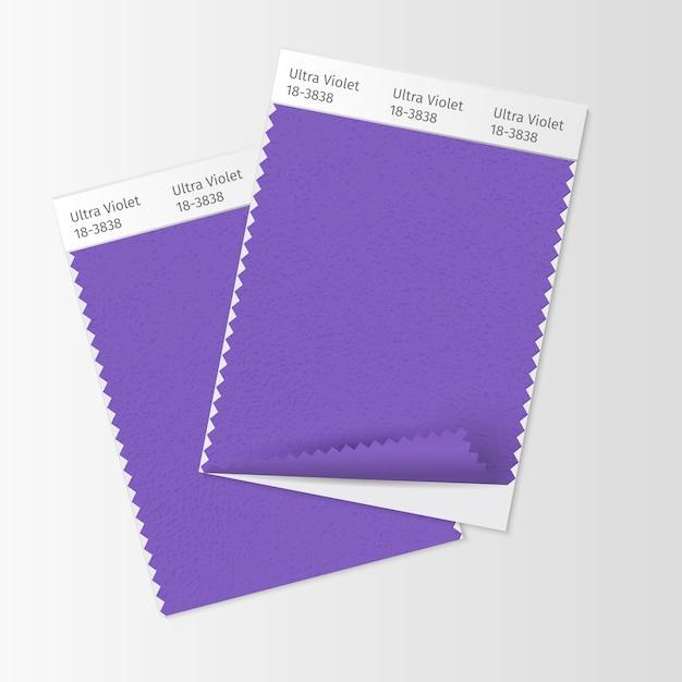 Campioni di tessuto, modello di campionario tessile Vettore gratuito