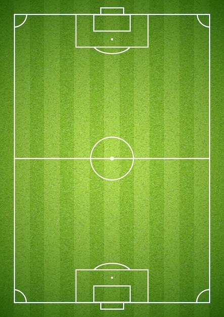 Campo da calcio verde Vettore gratuito