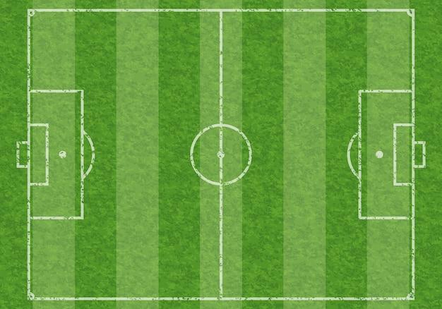 Campo da calcio Vettore Premium