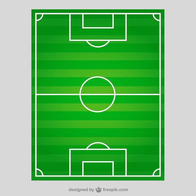 Campo di calcio in vista dall'alto Vettore gratuito