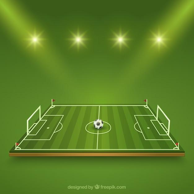 Campo di calcio Vettore gratuito