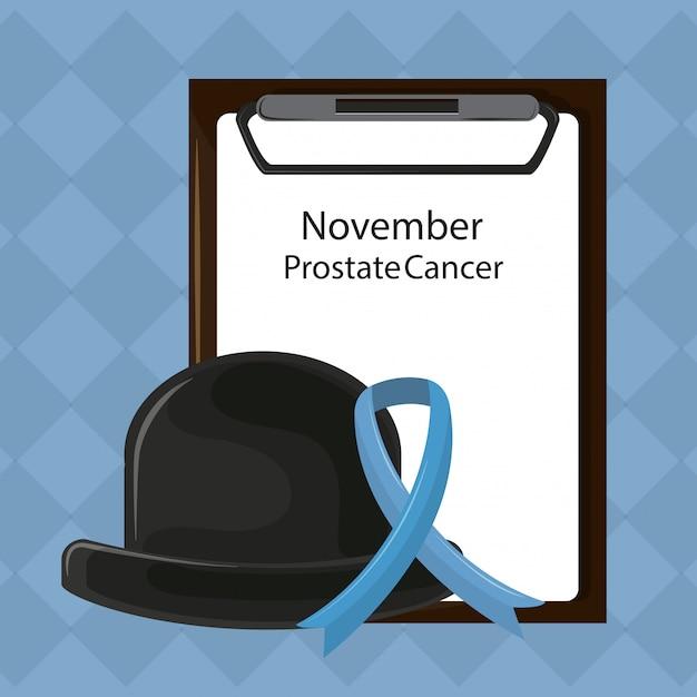 Cancro alla prostata di movember Vettore Premium