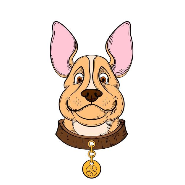 Cane disegnato a mano Vettore Premium