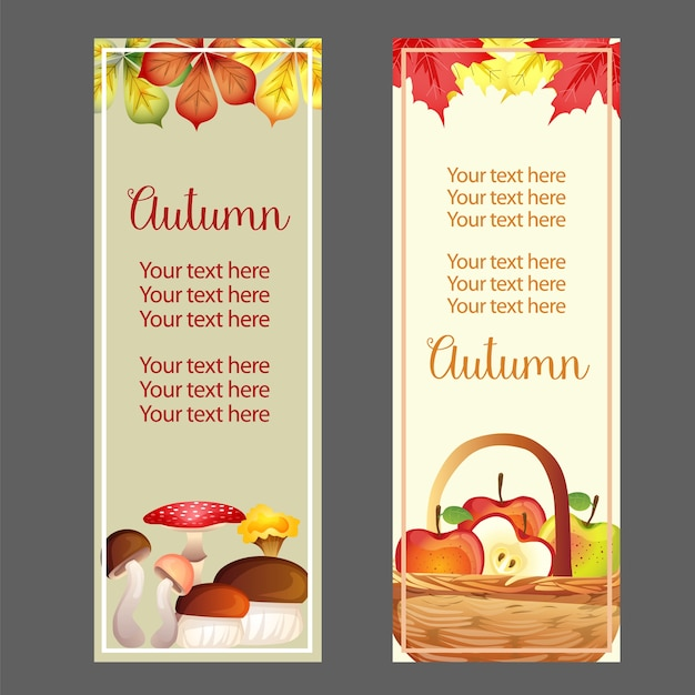 Canestro della mela di caduta di ringraziamento di autunno Vettore Premium