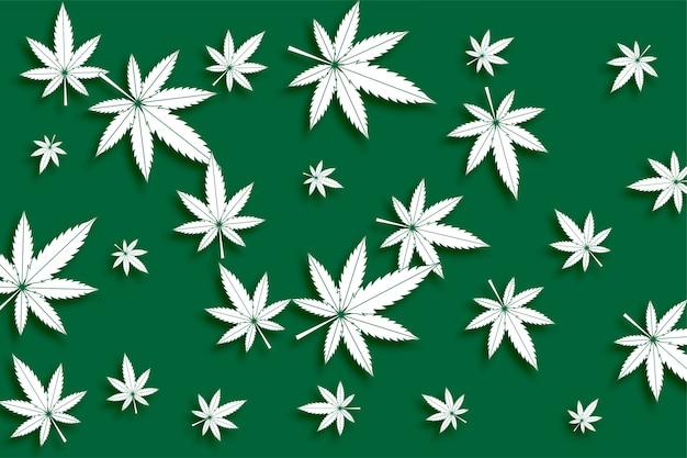 Cannabis verde foglie di marijuana senza cuciture Vettore gratuito