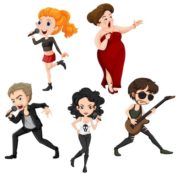 Cantanti di talento Vettore gratuito