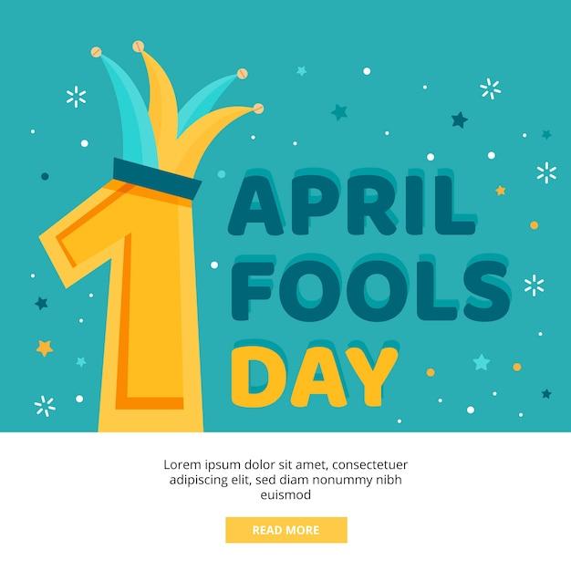 Cappello dei buffoni e del giorno dei pesci d'aprile Vettore gratuito