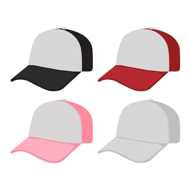 Caps design di collezione Vettore Premium