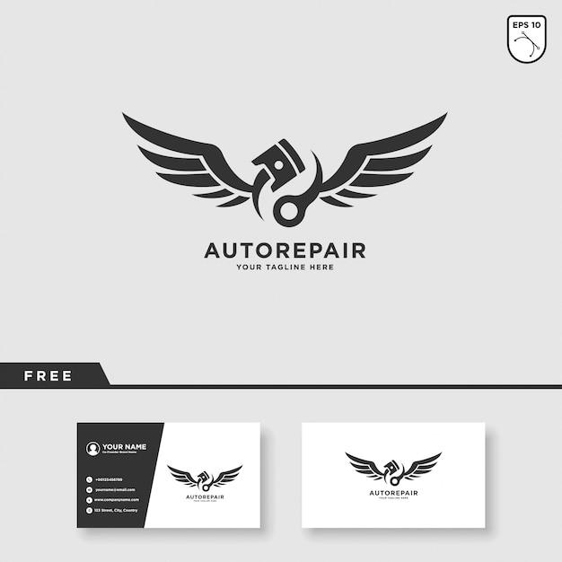 Car service vector logo design Vettore Premium