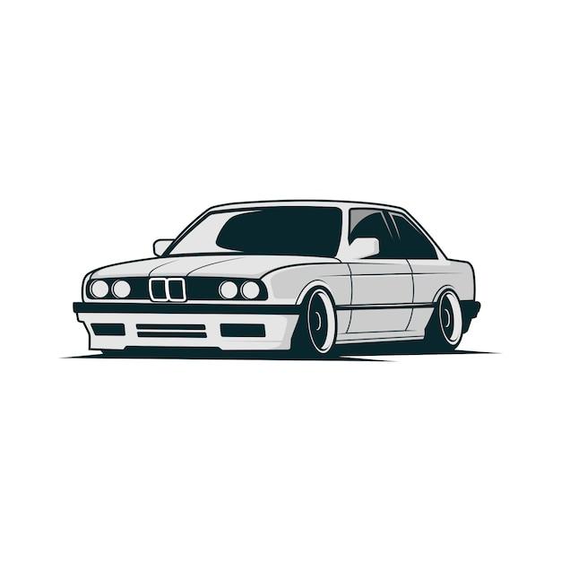 Car vector bmw Vettore Premium