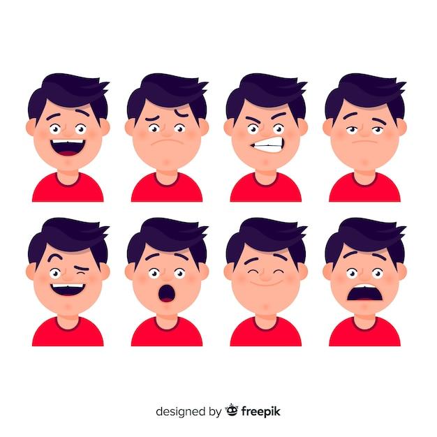 Carattere che mostra le emozioni Vettore gratuito