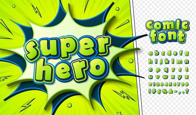 Carattere dei fumetti dei cartoni animati Vettore Premium