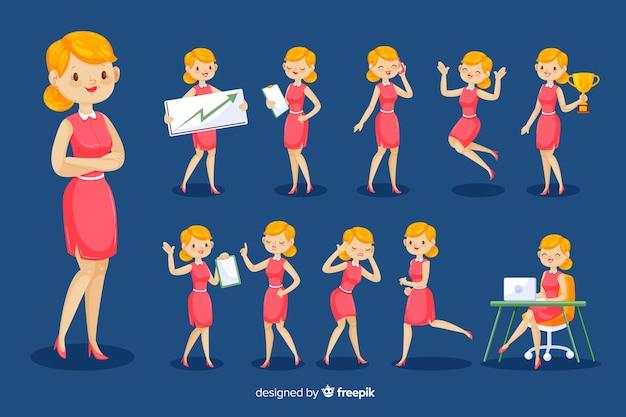 Carattere della donna di affari 3d Vettore gratuito