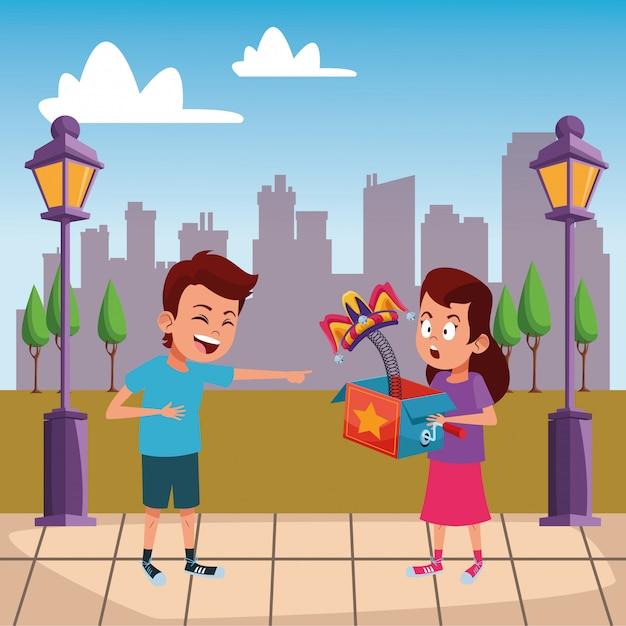 Carattere di cartone avatar giovani bambini Vettore gratuito