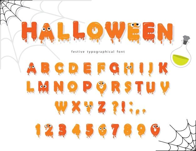 Carattere di halloween per i bambini Vettore Premium