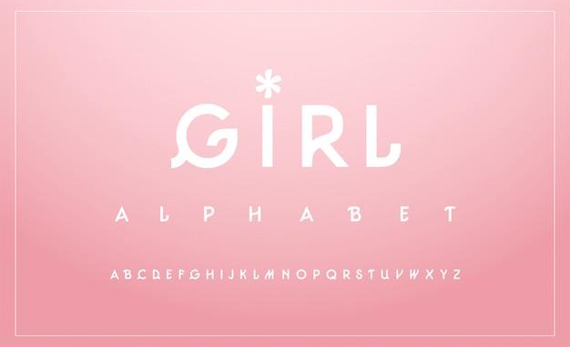 Carattere maiuscolo alfabeto dolce. tipografia classica Vettore Premium