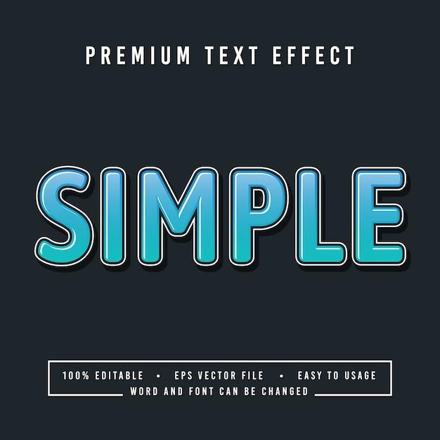 Carattere semplice decorativo Vettore Premium