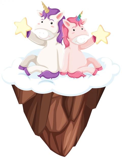 Carattere unicorno Vettore gratuito