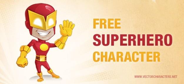 Carattere vettoriale supereroe Vettore gratuito