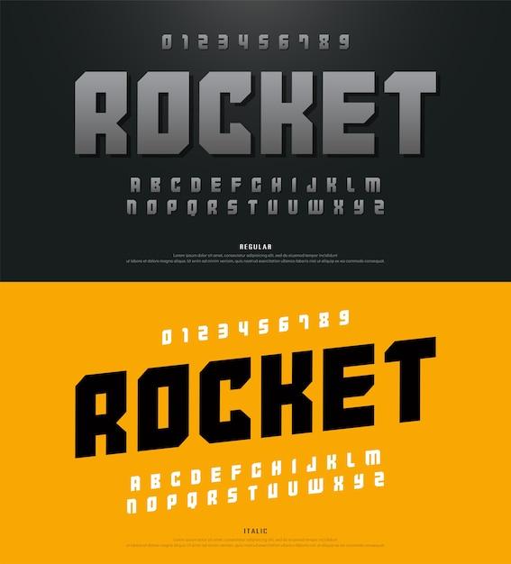 Caratteri alfabetici moderni e tipografia Vettore Premium