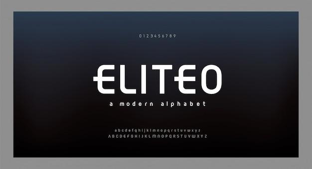 Caratteri alfabeto moderno astratto Vettore Premium