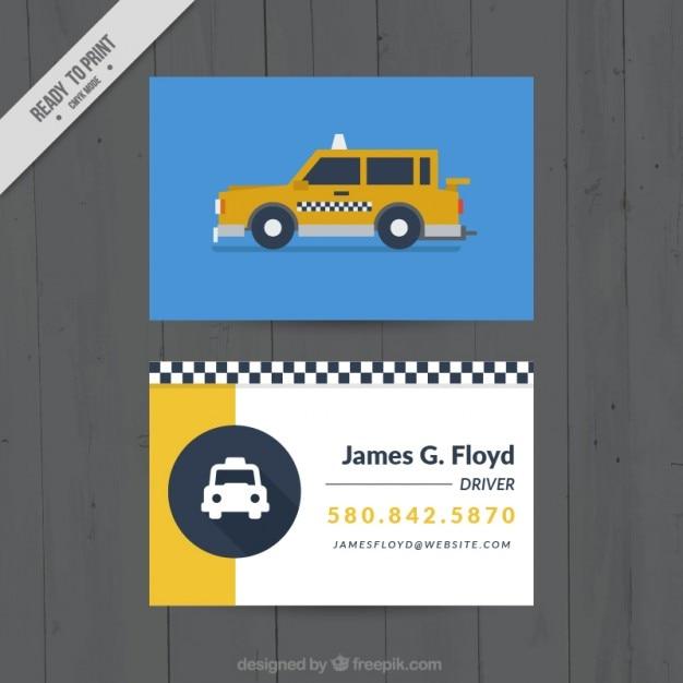Card per un tassista Vettore gratuito