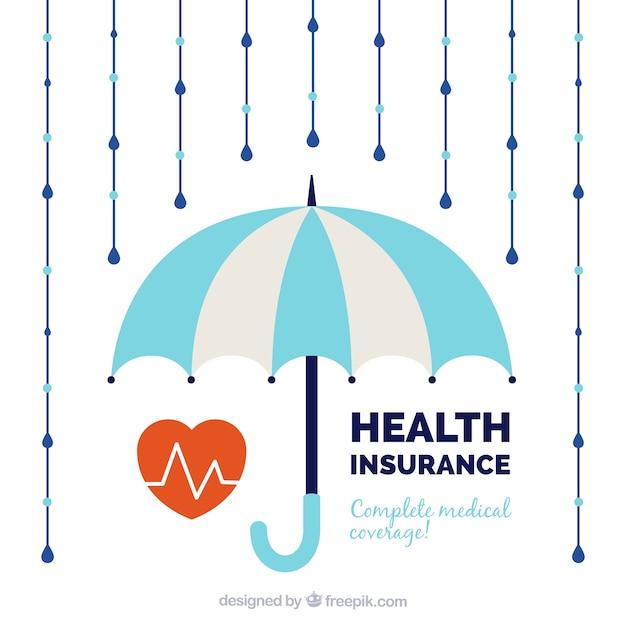 Cardiologia, ombrello e pioggia Vettore gratuito