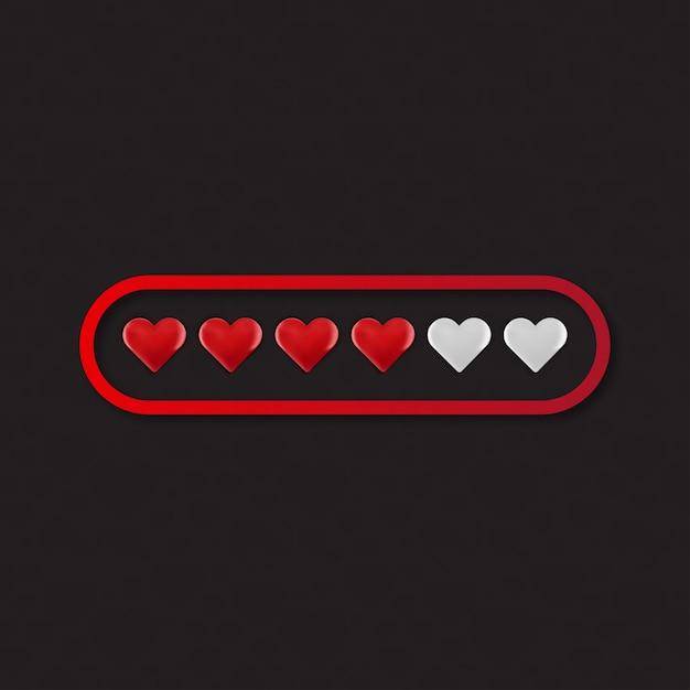 Caricamento del cuore di amore di valentine day Vettore gratuito