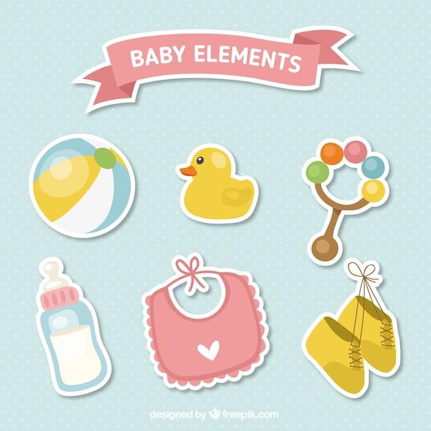 Carino accessori per neonati set di adesivi scaricare for Accessori per neonati