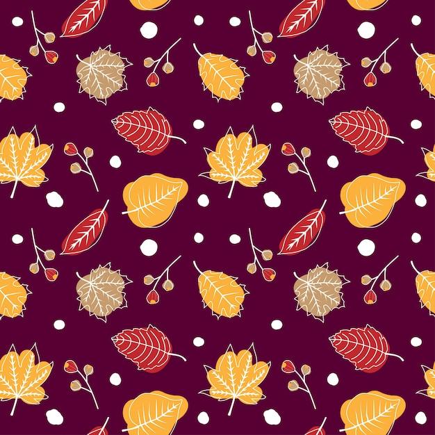 Carino autunno seamless Vettore Premium
