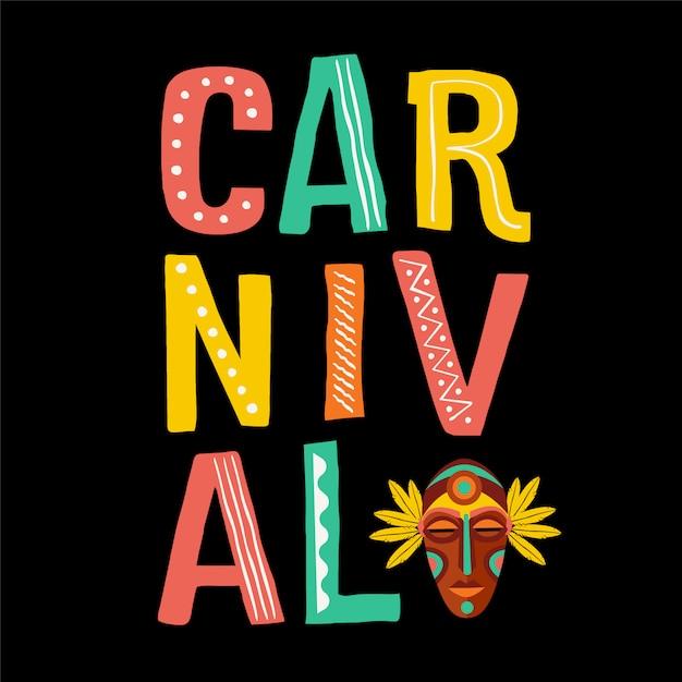 Carnevale brasiliano. Vettore Premium