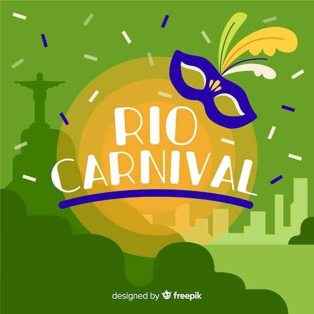 Carnevale brasiliano Vettore gratuito