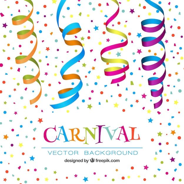 Carnevale Colorato Sfondo Conffeti Vettore Gratis
