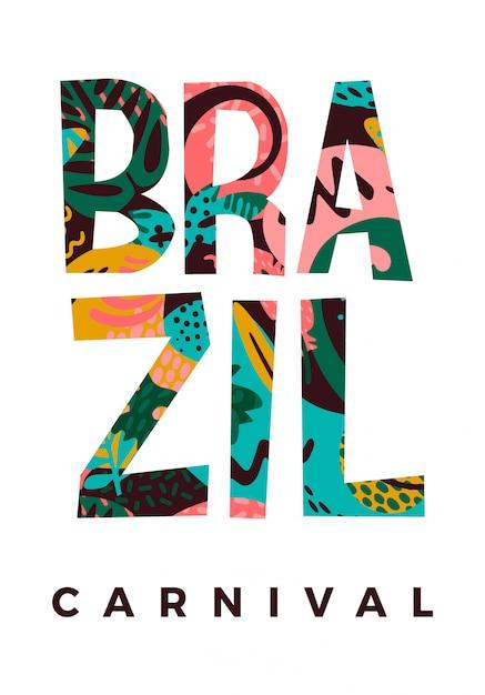Carnevale del brasile Vettore Premium