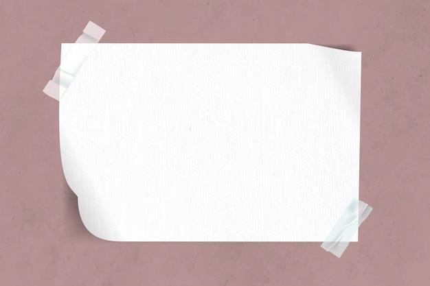 Carta bianca nastrata Vettore gratuito