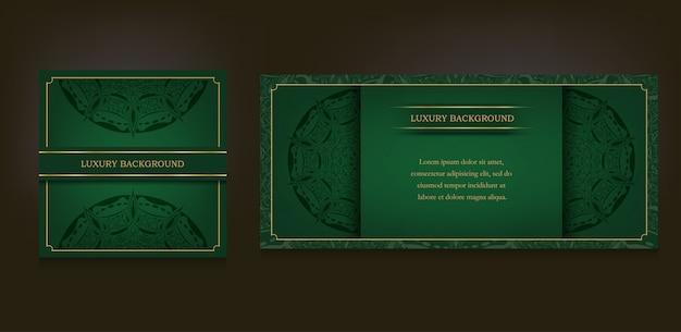 Carta d'epoca e lusso ornamentale mandala sfondo Vettore Premium