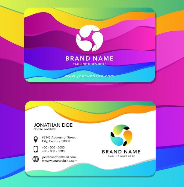 Carta d'identità a colori liquidi Vettore Premium