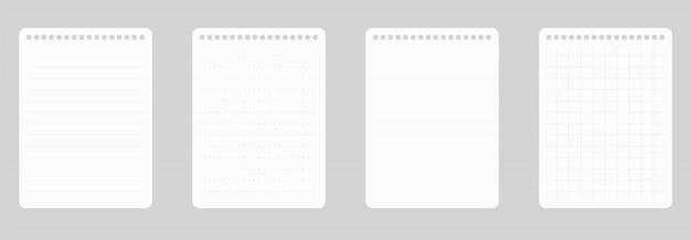Carta da lettera a4 con blocco note Vettore Premium