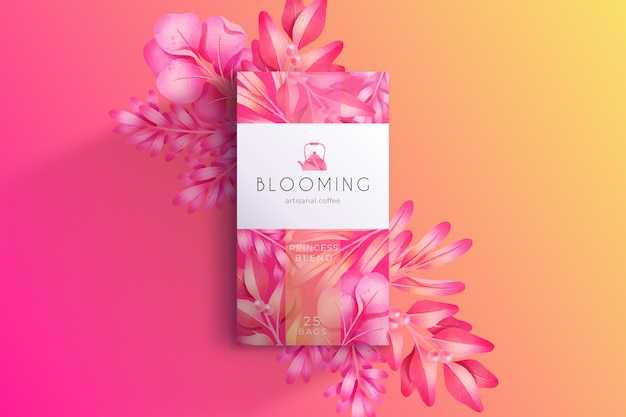 Carta da parati adorabile dei fiori dell'acquerello rosa Vettore gratuito