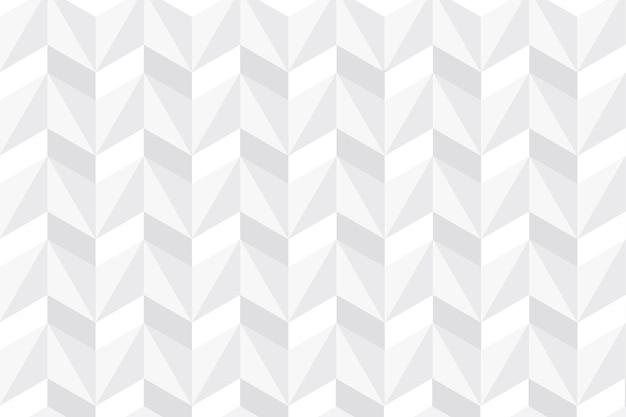 Carta da parati astratta bianca nella progettazione della carta 3d Vettore gratuito