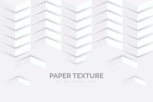 Carta da parati astratta bianca nello stile della carta 3d Vettore gratuito