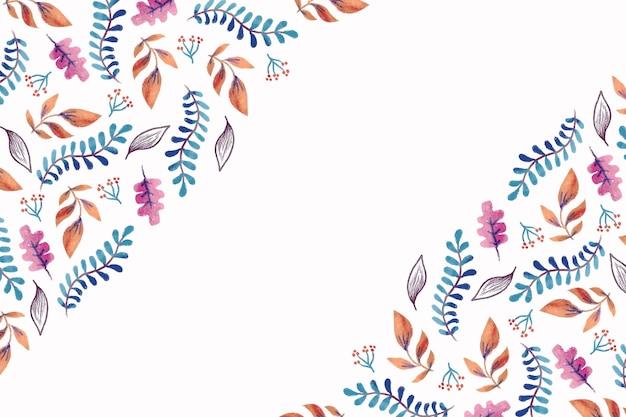 Carta da parati autunno dell'acquerello Vettore gratuito